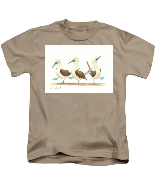 Three Blue Footed Boobies Kids T-Shirt