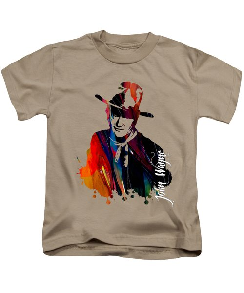 John Wayne Collection Kids T-Shirt by Marvin Blaine