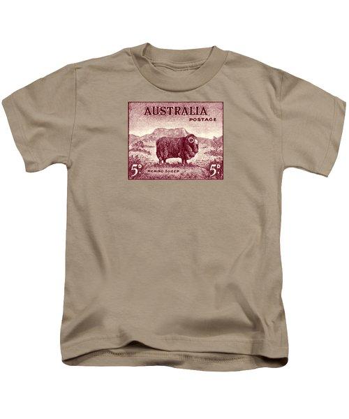 1946 Australian Merino Sheep Stamp Kids T-Shirt