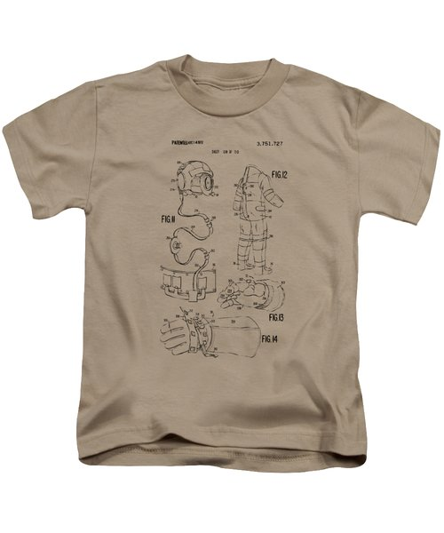1973 Space Suit Elements Patent Artwork - Vintage Kids T-Shirt