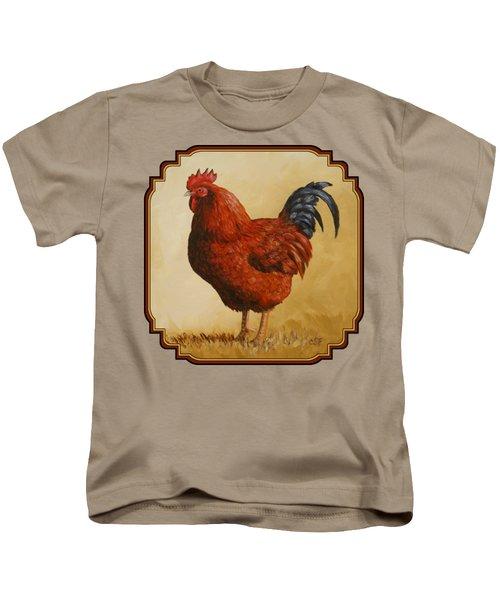 Rhode Island Red Rooster Kids T-Shirt