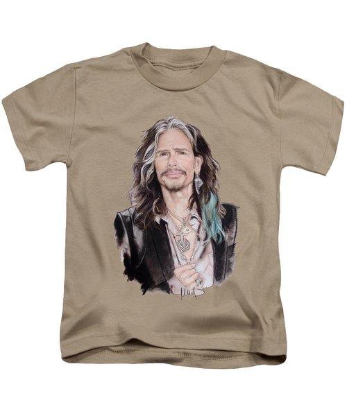 Steven Tyler  Kids T-Shirt by Melanie D