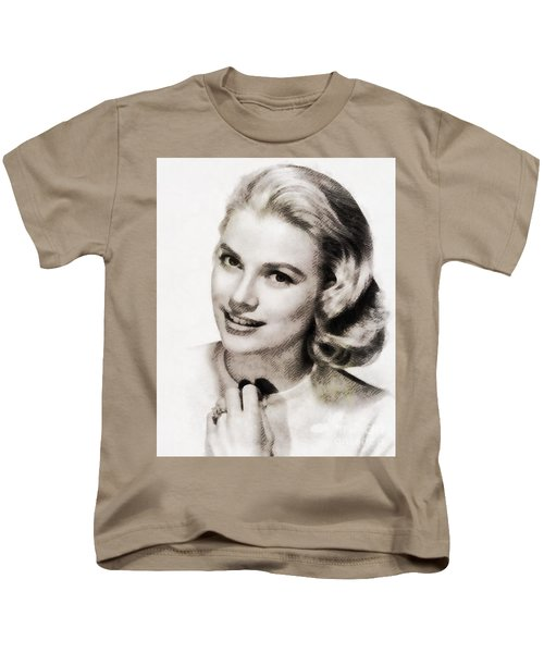 Grace Kelly, Vintage Hollywood Actress Kids T-Shirt