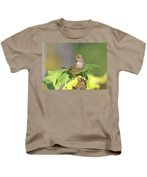 Golden -crowned Sparrow Kids T-Shirt