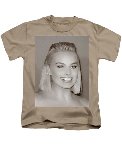 Hollywood Star Margot Robbie Kids T-Shirt by Best Actors