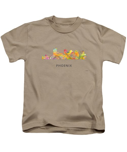 Phoenix Arizona Skyline Kids T-Shirt by Marlene Watson