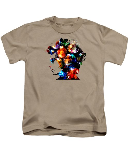 Bob Dylan Collection Kids T-Shirt by Marvin Blaine