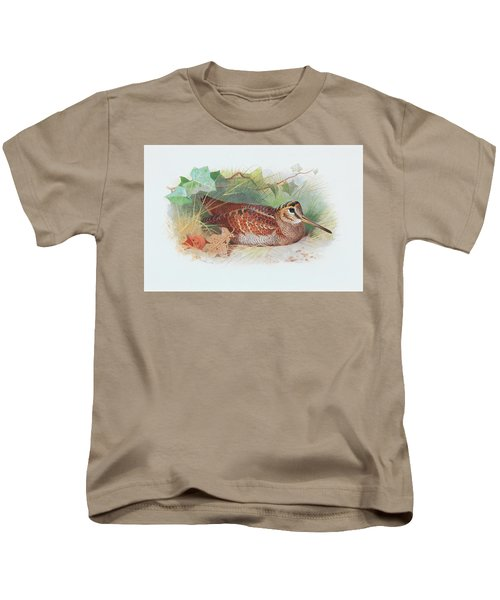 A Woodcock Resting Kids T-Shirt