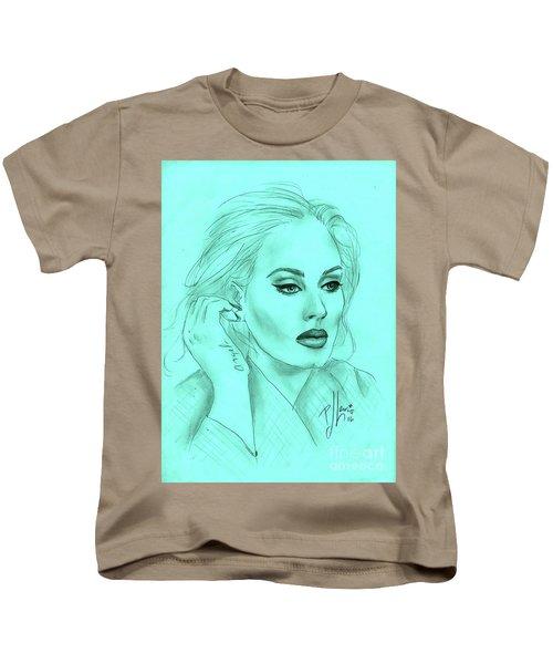 Adele Kids T-Shirt by P J Lewis