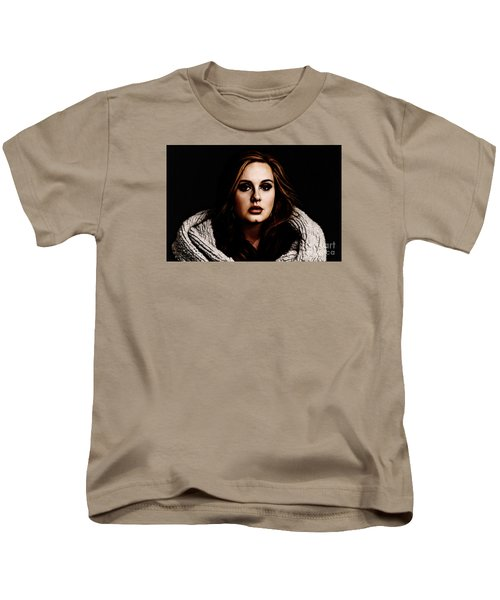 Adele Kids T-Shirt by The DigArtisT