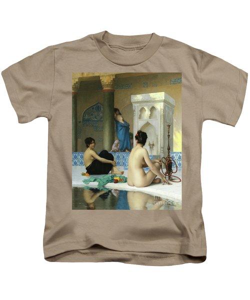 After The Bath, Jean Leon Gerome Kids T-Shirt