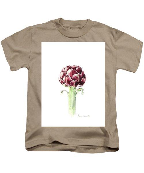 Artichoke From Roman Market Kids T-Shirt by Alison Cooper