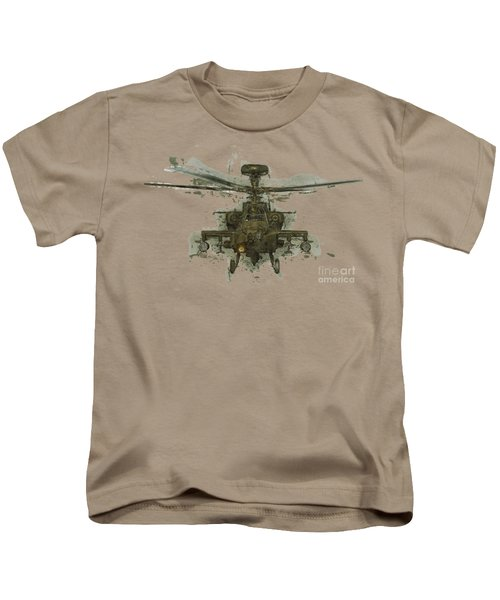Apache Helicopter Abstract Kids T-Shirt