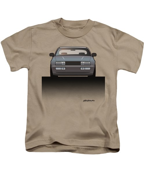 Modern Euro Icons Series Vw Corrado Vr6 Kids T-Shirt by Monkey Crisis On Mars