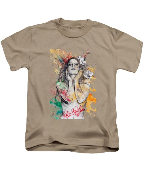 The Withering Spring Kids T-Shirt by Marco Paludet