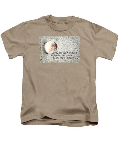 Beach Art - Lucky Enough - Sharon Cummings Kids T-Shirt
