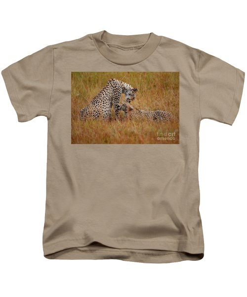 Best Of Friends Kids T-Shirt by Nichola Denny