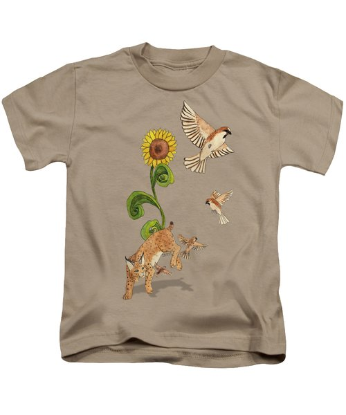 Bobcats And Beeswax Kids T-Shirt by Teighlor Chaney