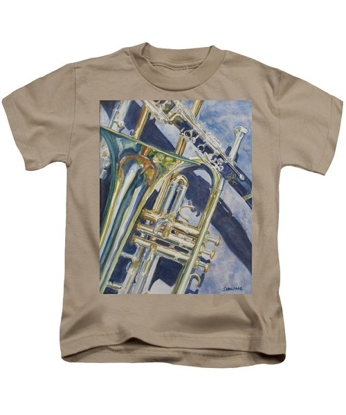 Brass Winds And Shadow Kids T-Shirt