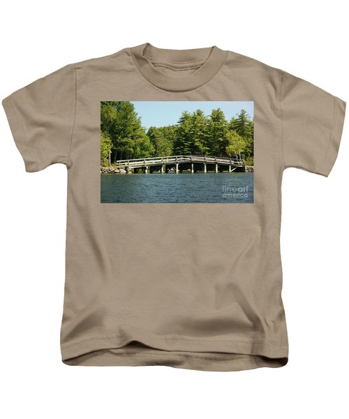 Bridge Over Gorgeous Water Kids T Shirt