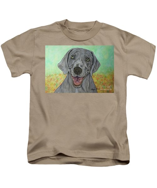 Camden The Weimaraner Kids T-Shirt