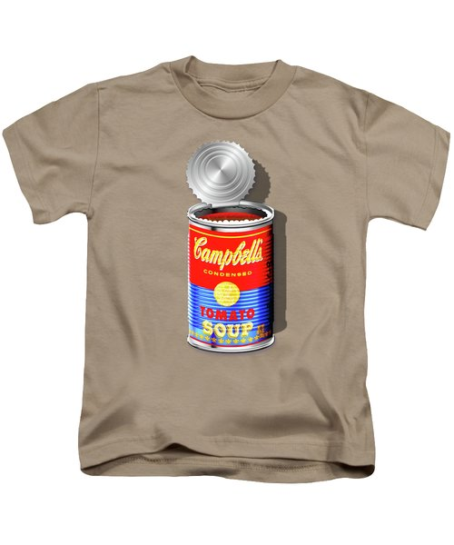 Campbell's Soup Revisited - Red And Blue   Kids T-Shirt by Serge Averbukh