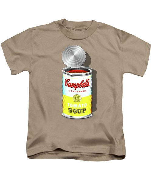 Campbell's Soup Revisited - White And Yellow Kids T-Shirt