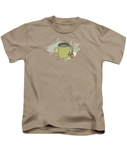 Climbing Mt Cocoa Illustrated Kids T-Shirt by Heather Applegate