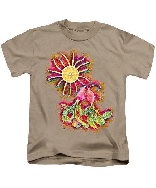 Color Splash - Radish Love  Kids T-Shirt