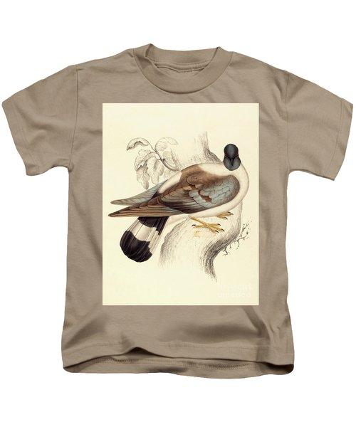 Columba Leuconota, Snow Pigeon Kids T-Shirt by Elizabeth Gould