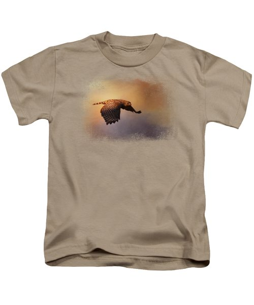Coming In For The Evening Kids T-Shirt by Jai Johnson