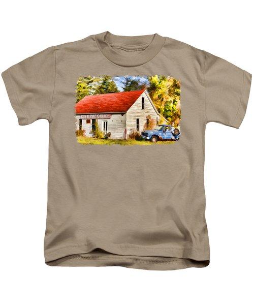 Door County Gus Klenke Garage Kids T-Shirt by Christopher Arndt