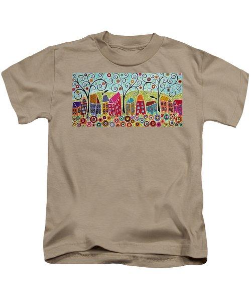 Dsc01598-swirl Tree Village Kids T-Shirt
