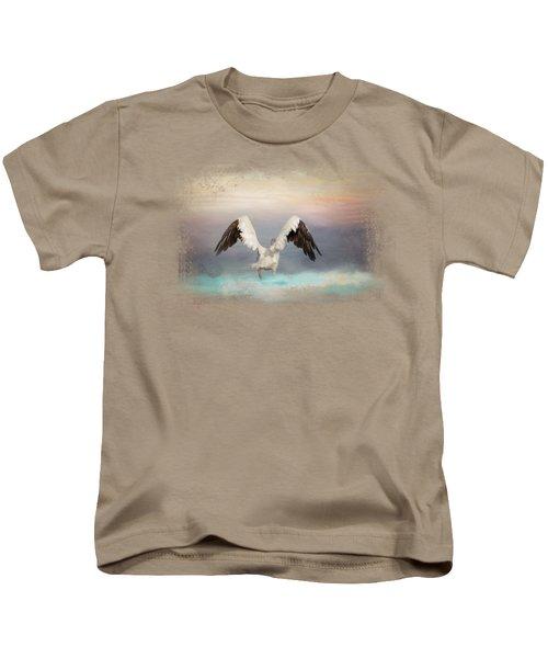 Early Morning Swim Kids T-Shirt by Jai Johnson