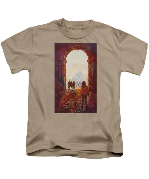 Evening At The Louvre Kids T-Shirt by Jenny Armitage