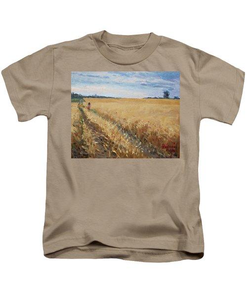 Field Of Grain In Georgetown On Kids T-Shirt