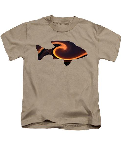 Fiery Wave Fish Kids T-Shirt