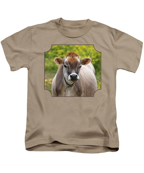 Funny Jersey Cow - Horizontal Kids T-Shirt by Gill Billington