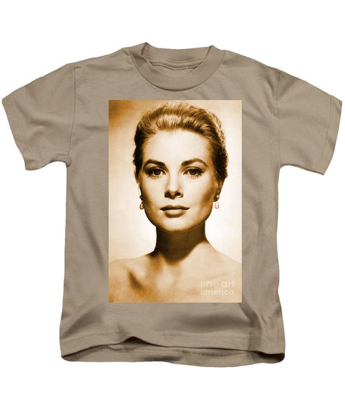 Grace Kelly Kids T-Shirt by Opulent Creations