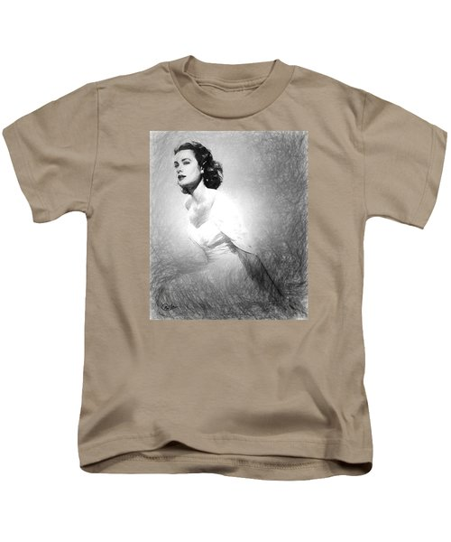 Grace Kelly Sketch Kids T-Shirt by Quim Abella