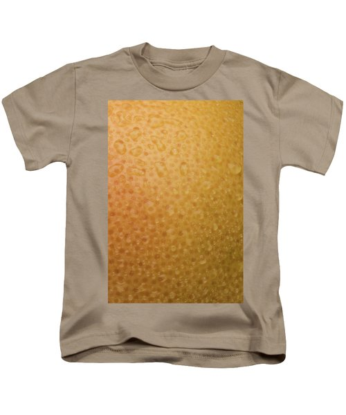 Grapefruit Skin Kids T-Shirt by Steve Gadomski
