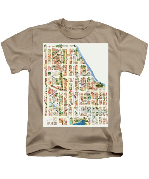 Harlem From 110-155th Streets Kids T-Shirt by Afinelyne