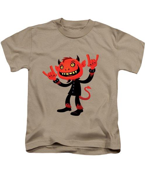Heavy Metal Devil Kids T-Shirt by John Schwegel