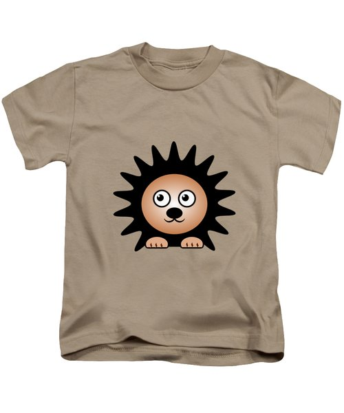 Hedgehog - Animals - Art For Kids Kids T-Shirt by Anastasiya Malakhova