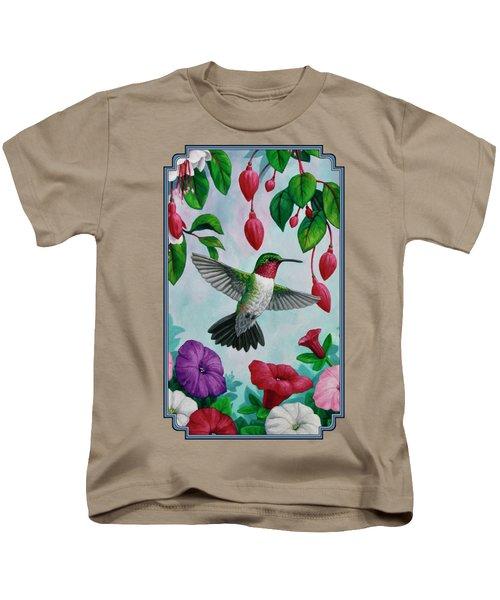 Hummingbird Greeting Card 2 Kids T-Shirt
