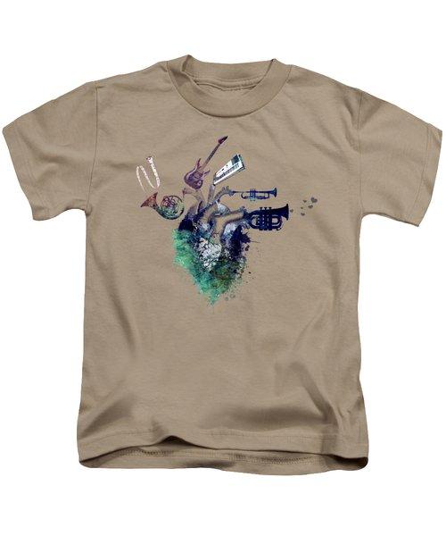 I Love Music - Music My Love Kids T-Shirt