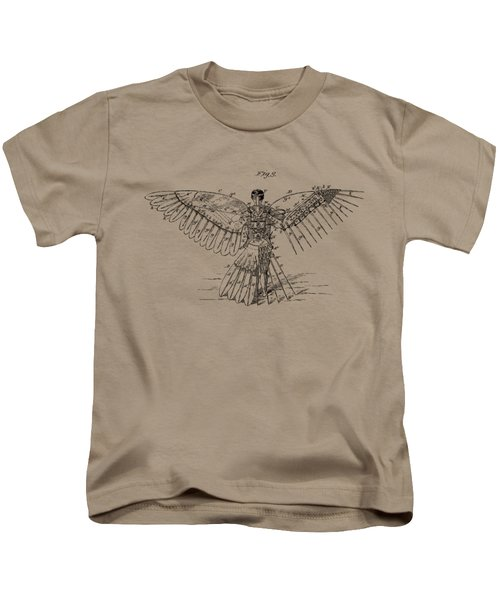 Icarus Human Flight Patent Artwork - Vintage Kids T-Shirt