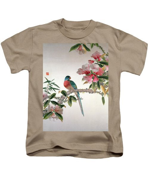 Jay On A Flowering Branch Kids T-Shirt by Chinese School