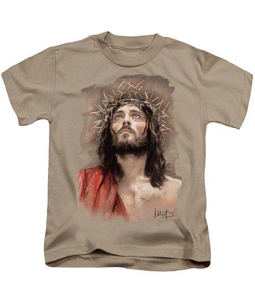 Jesus  Kids T-Shirt by Melanie D