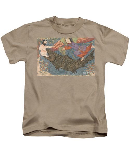 Jonah And The Whale Kids T-Shirt by Iranian School